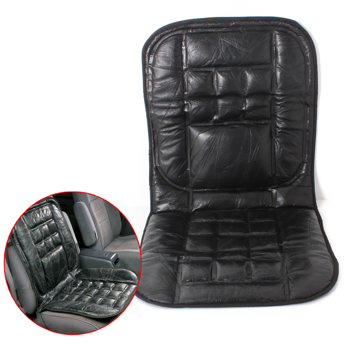 Massage Chair Cover Leather Back Support Front Seat Cover Cushion Chair