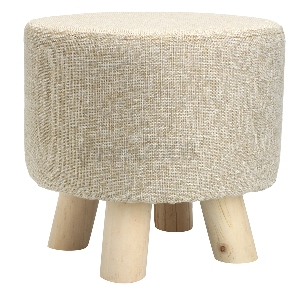 Small Chair With Ottoman Footstool Small Round Wood Pouffe Chair Ottoman Foot Stool