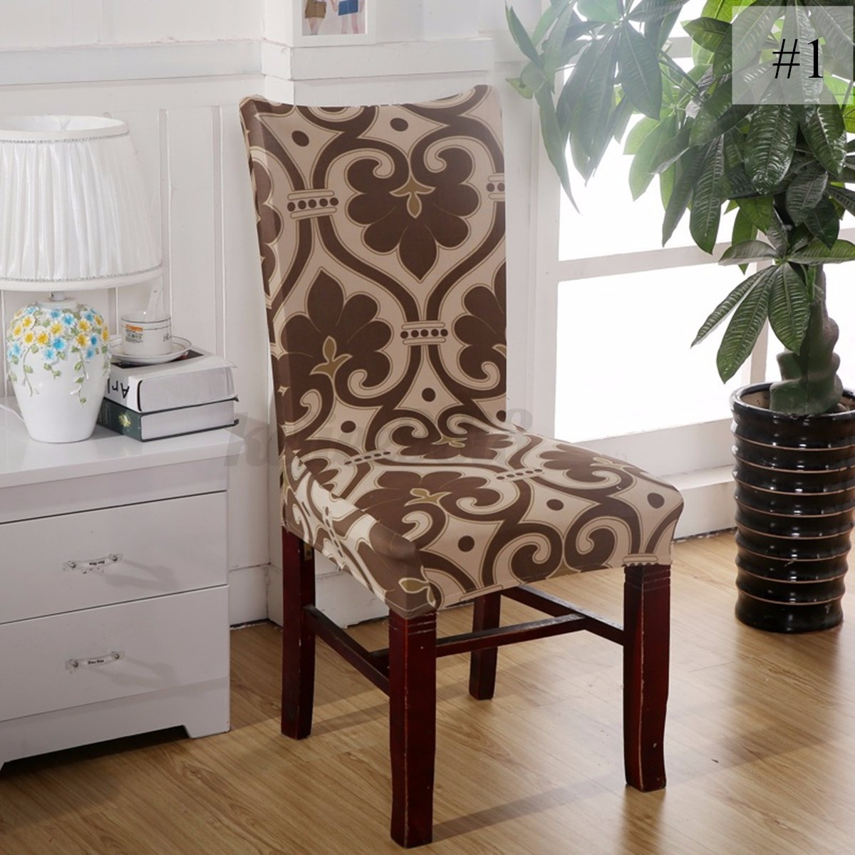 Dining Room Chair Cover Removable Elastic Stretch Slipcovers Short Dining Room