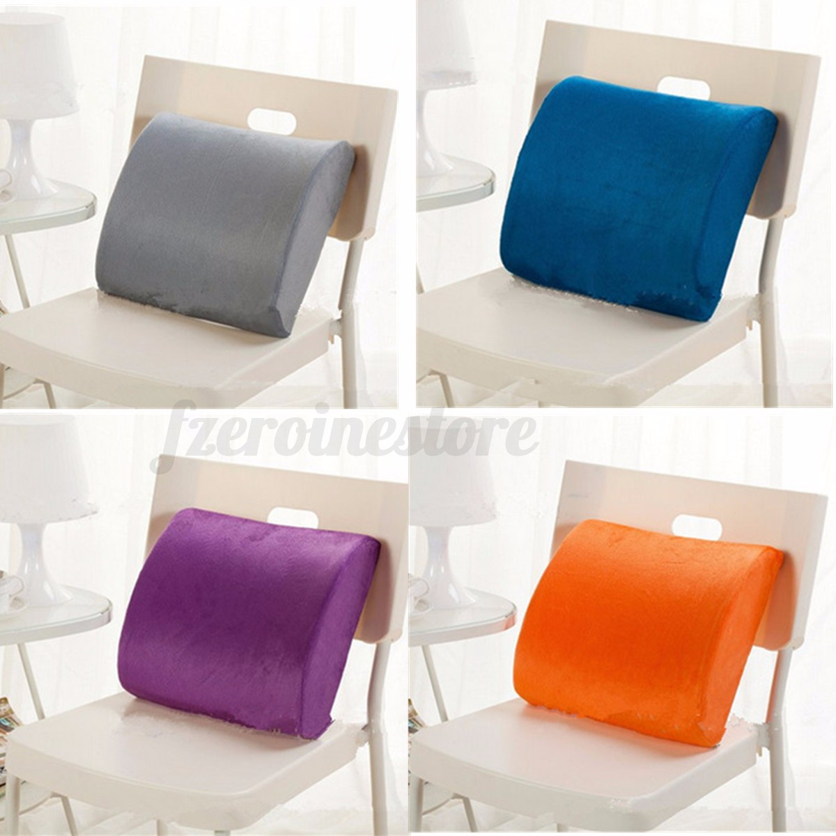 Back Support Chair Memory Foam Lumbar Cushion Back Support Chair Waist Pillow