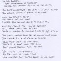Hand Written Lyrics