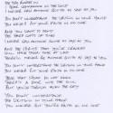 Hand Written Lyrics