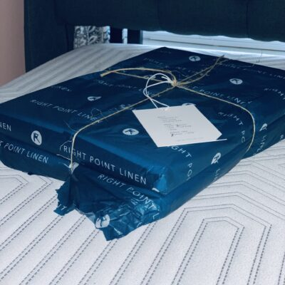 Right Point Linen Sateen Bed Sheets