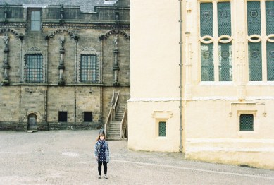 Here I am showing the sheer scale of the great hall.