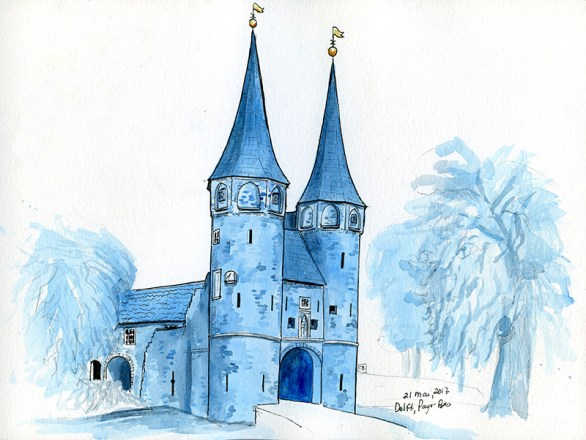 Delft (Joel had the idea of painting this in Delft blue)
