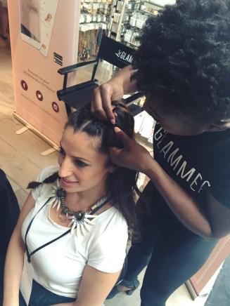 stylecon x topshop the grove hello summer chantal boyajian braids hair stylist be glammed