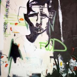 KONG, 2008 5'x5' mixed media on canvas
