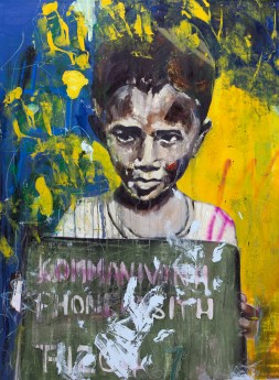 """Brother, 2015 36"""" x 48"""" Mixed Media on canvas"""