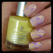 easter water marble nail art
