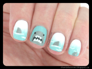 shark week nail art - chantal's
