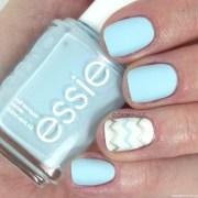 chevron nail art with essie mint