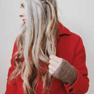 long natural grey hair
