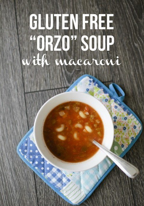Delicious Gluten Free Orzo Soup with Macaroni