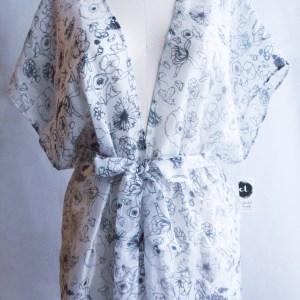 Local Floral Silk Kimono $120