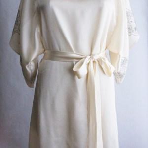 Lace Print Silk Kimono $380