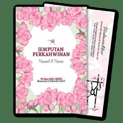 kad kahwin Floral 5