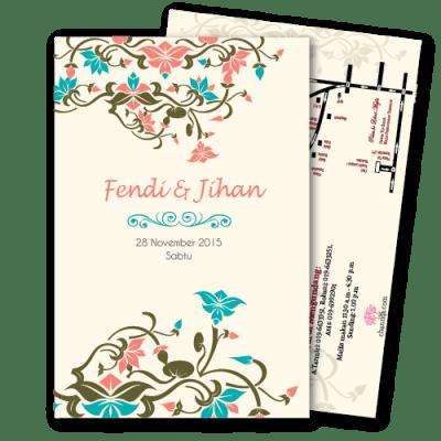 kad kahwin Floral-8