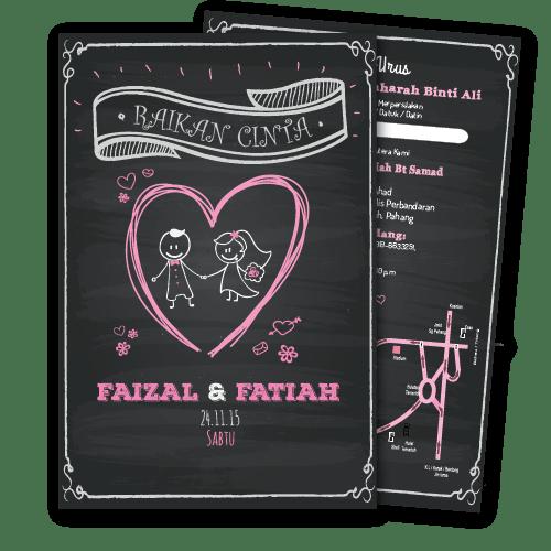 Kad Kahwin Kartun 3 murah