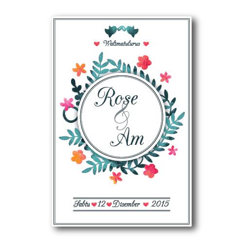 Kad Kahwin Floral 18