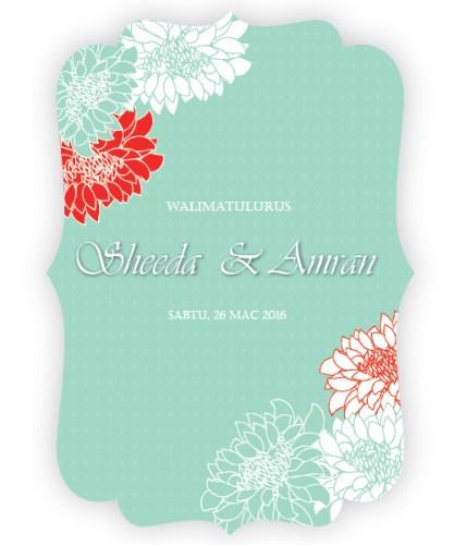 kad kahwin floral 26