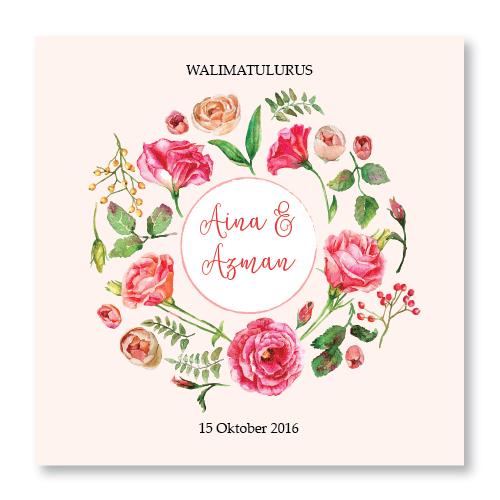 Kad kahwin Floral 34