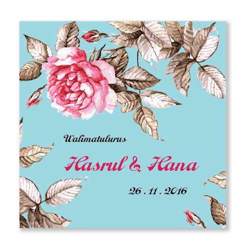 Kad Kahwin Floral 35
