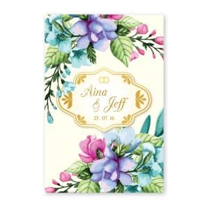Kad Kahwin Floral 41