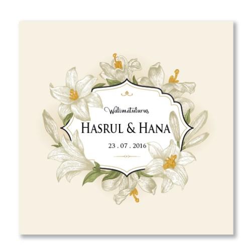 Kad Kahwin Floral 46
