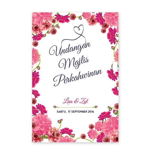 Kad kahwin Floral 49
