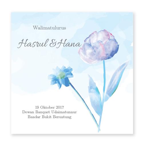 Kad kahwin Floral 64