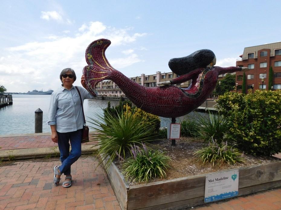 Norfolk 美人鱼雕像