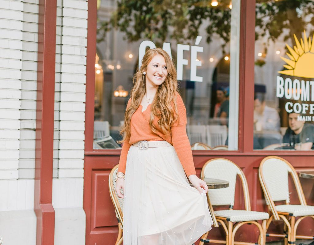 Styling a Sweater and Tulle Skirt for Fall | Chaos and Coffee
