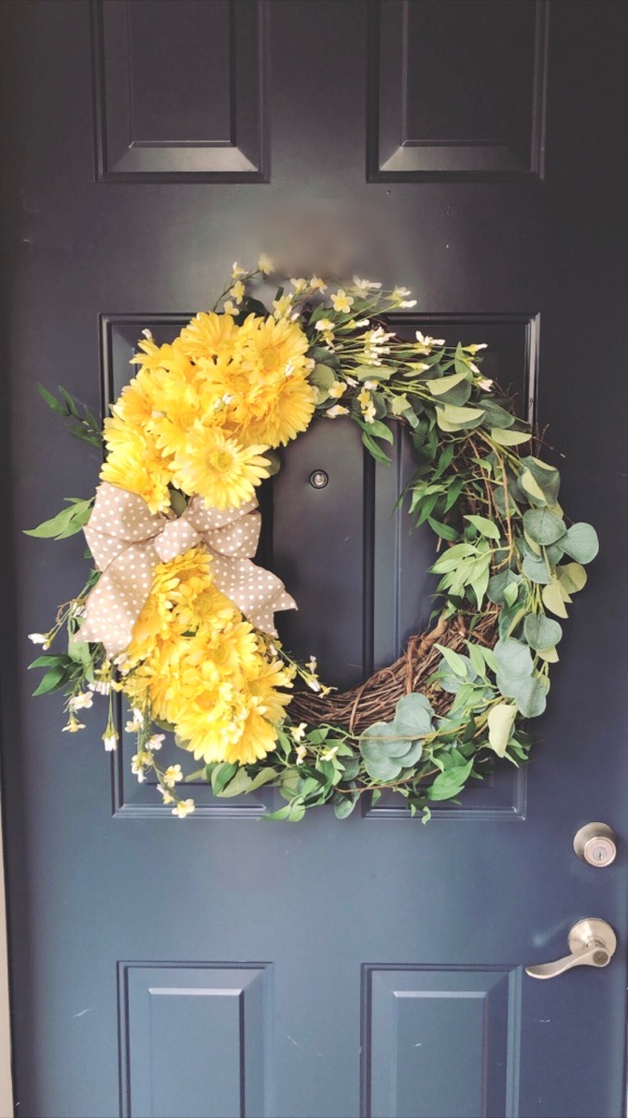 DIY Spring Wreath | Chaos and Coffee
