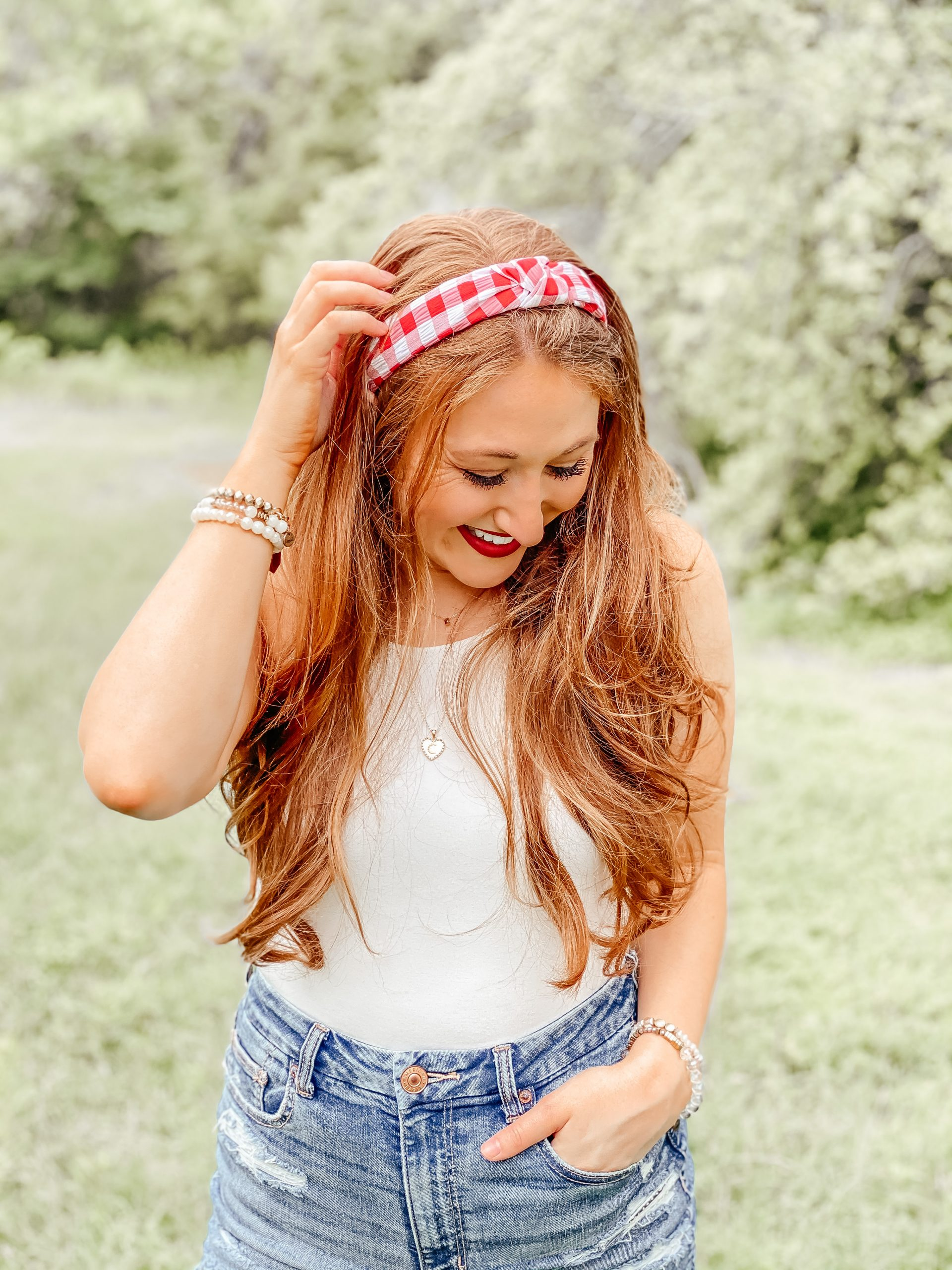 4th of July outfit looks with red, white and blue