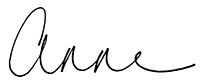 Anne English signature Anne