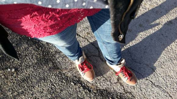 neue Schuhe und ganz viel rot