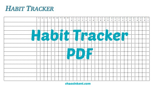 Track your habits?  How do you do that?
