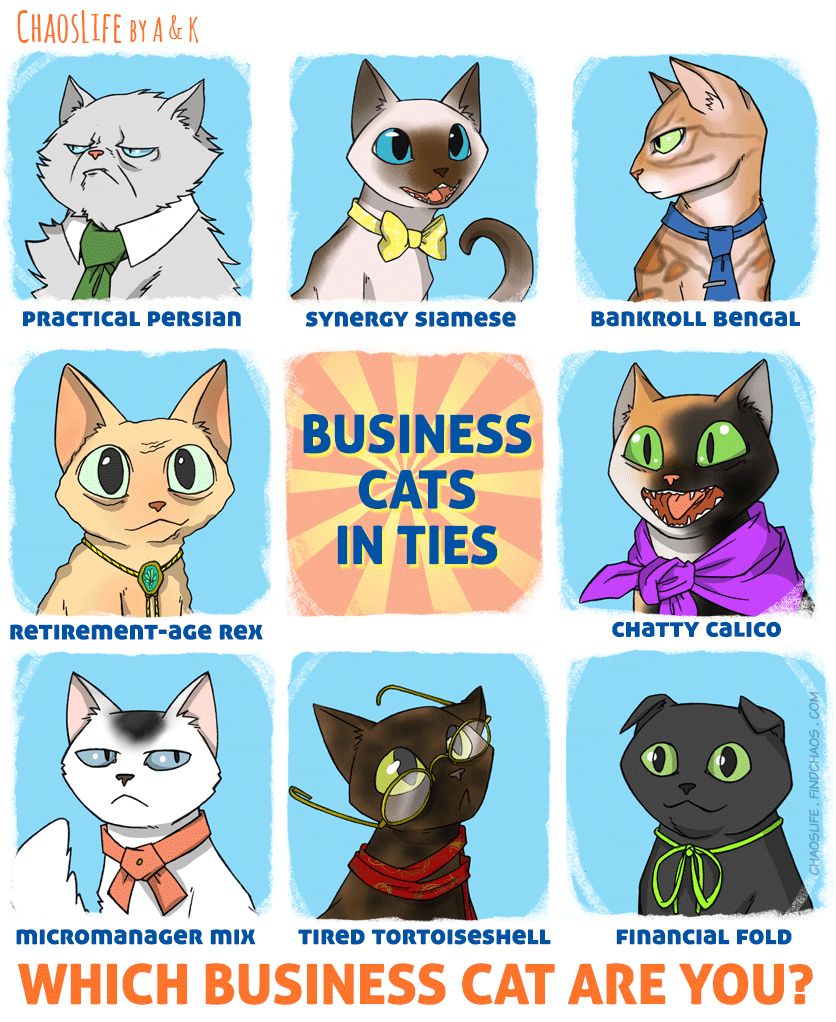 Business Cats In Ties
