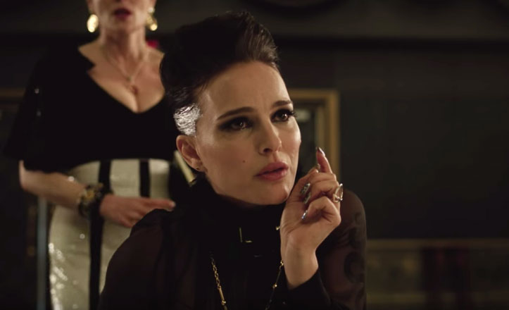 natalie portman wrapped up sia in vox lux new trailer watch