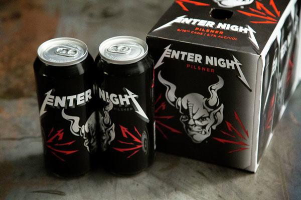 metallica enter night pilsner beer