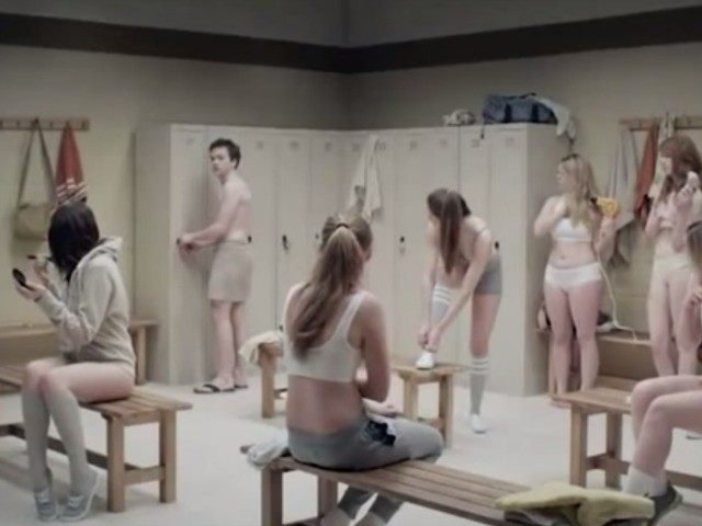 boy in girls locker room