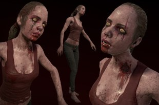 Zombie girl in yoga pants