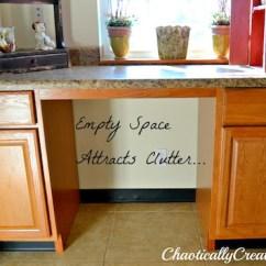 Kitchen Desk Silver Aid Storage Area Chaotically Creative
