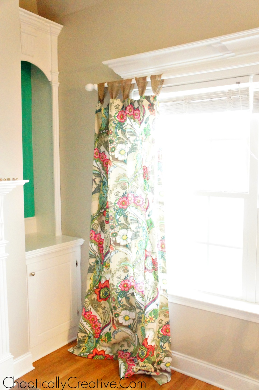 How To Hang Curtain Rods On Windows With Decorative Molding Chaotically Creative