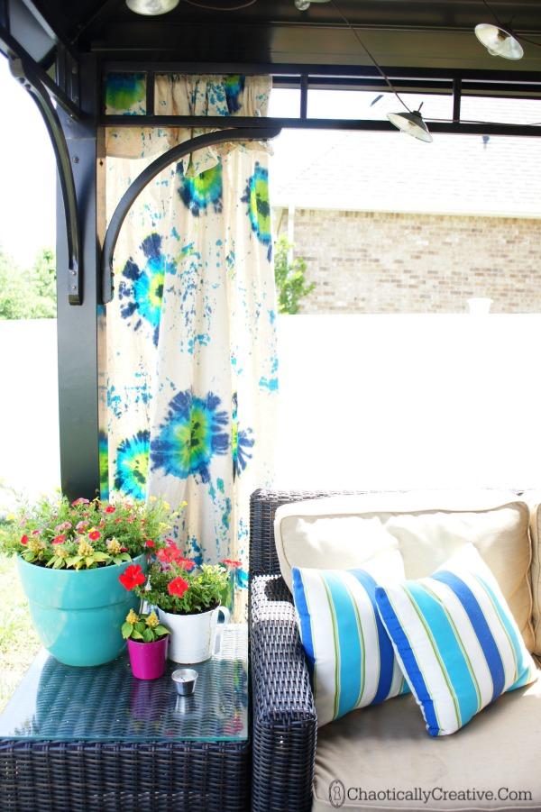 Tulip Tie Dye Outdoor Gazebo Panels Chaotically Creative