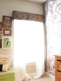 Easy DIY Wooden Window Cornice - Chaotically Creative