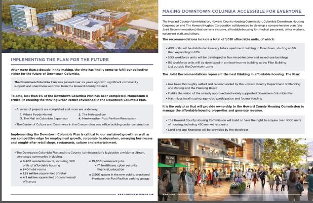Downtown Columbia Presentation Page 2