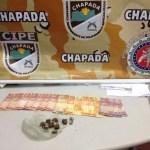 CIPE CHAPADA apreende drogas e dinheiro com menor em Itaetê