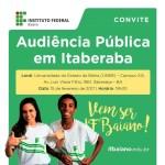 IF Baiano promove  Audiências Públicas em Itaberaba