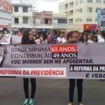 Manifestação reúne várias categorias em Itaberaba contra reformas trabalhistas